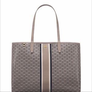 NEW! Tory Burch Gemini Link Tote French Gray